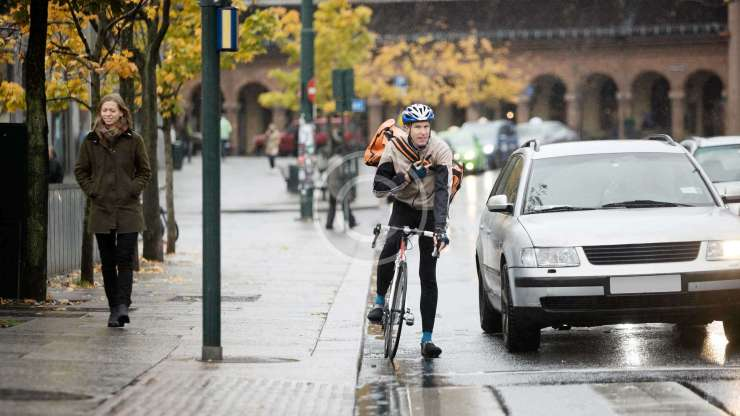 The Cyclist and the Roadworks